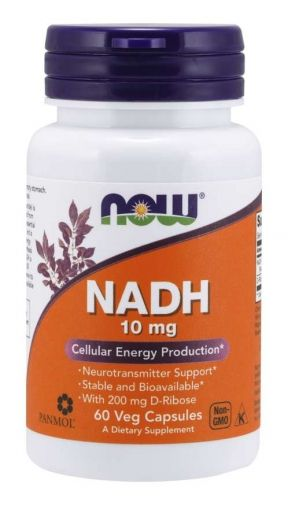 NADH 10 mg + D-Ribose 200 mg | Now Foods,  60 капс