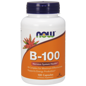 Витамин Б-100  Комплекс | Vitamin B-100 Complex | Now Foods,100 таб