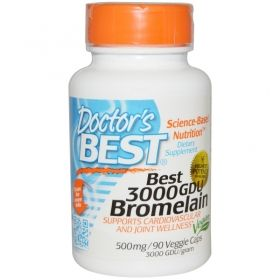 Бромелаин 3000 GDU, 500 мг | Bromelain | Doctor's Best, 90 Капсули
