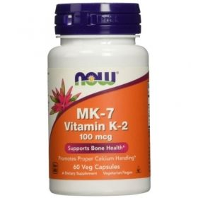 Витамин К2, 100 мкг |Vitamin K2, MK-7 | Now Foods, 60 Капсули