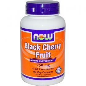 Дива череша  750 мг | Black Cherry Fruit | Now Foods, 90 капс
