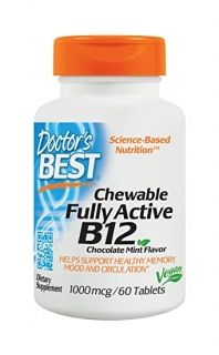 Doctor's Best Fully Active  B12 1000mcg / Витамин Б12  Метилкобаламин, 100 мкг х 60таб