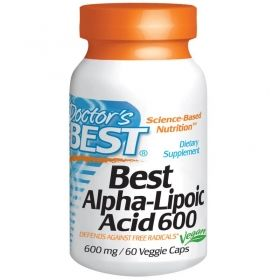Алфа липоева киселина 600 мг | Аlpha-Lipoic Acid | Doctor's Best, 60 капс