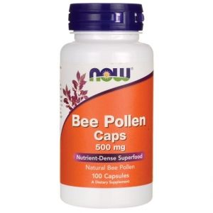 Пчелен прашец 500 мг | Bee Pollen | Now Foods, 100 капс
