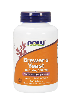 Бирена мая 650 мг| Brewer's Yeast | Now Foods, 200 табл