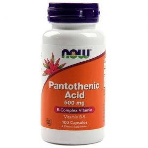 Витамин B-5 500 мг | Pantothenic Acid |Now Foods, 100 Капсули