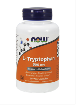 Л-Триптофан 500 мг| L-Tryptophan | Now Foods, 60 капс