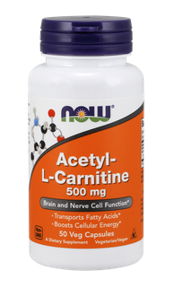 Ацетил Л-Карнитин 500 мг | Acetyl L-Carnitine | Now Foods, 50 капс