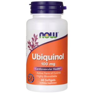Убиквинол, 100 мг  | Ubiquinol CoQH-CF | Now Foods, 60 дражета