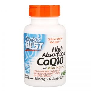 Коензим Q10 400 мг |  CoQ10 with BioPerine | Doctor's Best 60 капс