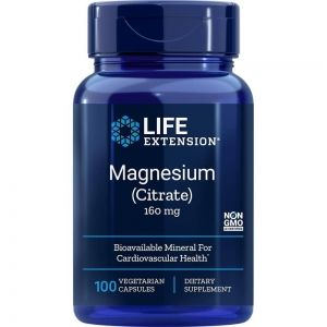 Магнезий цитрат 160 мг | Magnesium citrate | Life Extension, 100 капс