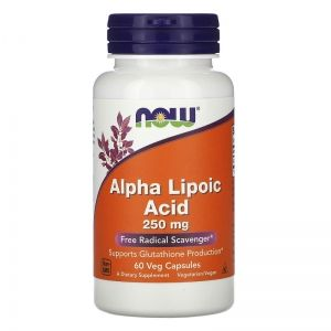 Алфа липоева киселина 250 мг | Аlpha-Lipoic Acid | Now Foods, 60 капс